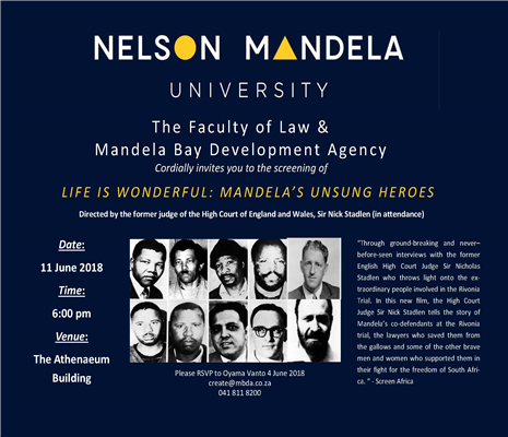 Life is Wonderful: Mandela's Unsung Heroes